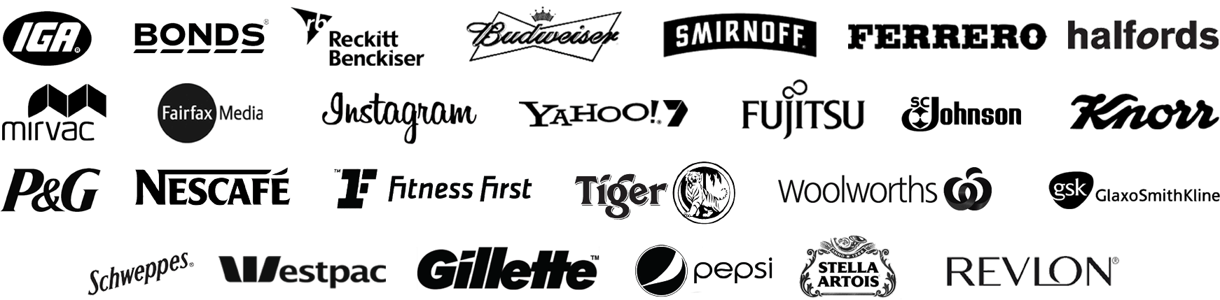 Some of the brands we have carried out research for